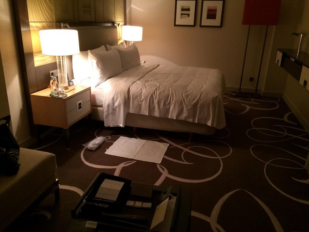Bett im Waldorf-Astoria